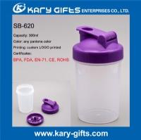 BPA Free plastic water cup custom protein shaker bottle SB-620