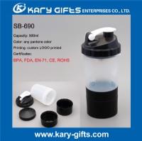 500ml shaker bottle plastic logo printing protein shaker bottle SB-690