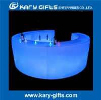 Lighting Up LED Bar Furniture Table Curved Counter KFT-150100