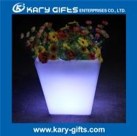 RGB waterproof IP65 planter pot plastic LED light flower pot KFP-3840