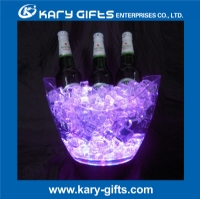 Led illuminated plastic ice bucket wine bucket champagne cooler LB-0206B