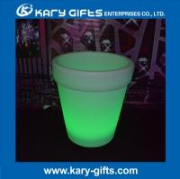 LED furniture led illuminated plastic flower pot led flower pot KFP-6265