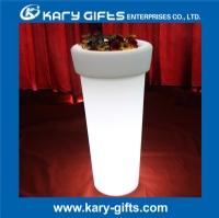 LED remote control planter pot plastic led light flower pot KFP-4895