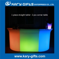 Rechargeable Plastic remote control led lighted portable bar KFT-9011