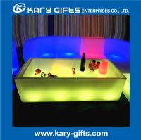 Rechargeable illuminated square led refrigerator led table furniture KFT-1750