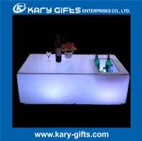 Remote control led table led furniture illuminated bar table KFT-12067