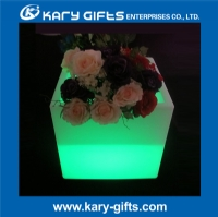 Waterproof multi color remote control glowing led flower pot KFP-4040