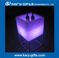 Waterproof party decor led garden pot plastic illuminated flower pot KFP-4076R