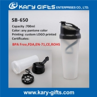 custom bpa free shaker bottle drinking cup with mixer SB-650