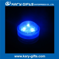 colorful round tealight submersible led light for aquarium KA-1203