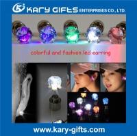 multi color crystal light up led earring LE-2001