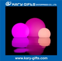 Plastic rechargeable LED illuminated multi color ball light KB-3003