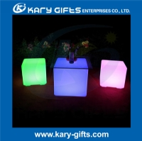 LED cube seat lighting led plastic color changing chair led cube stool KC-3004