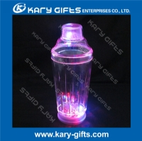 500ml LED flashing plastic cocktail shaker LC-0719A