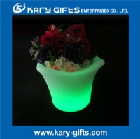 Remote control home backyard planter pot illuminated flower pot KFP-3627