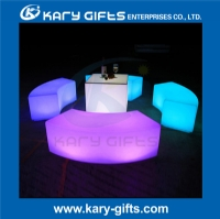LED bar furniture plastic LED illuminated color changing bar stool  KC-1243