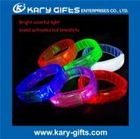sound activated flashing wristband led party bracelet KL-0405