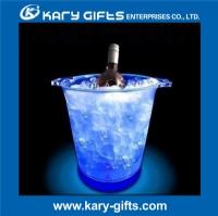 logo printing plastic bar decor led lighted ice bucket KA-0353