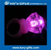plastic colorful flashing party light up diamond rings KA-0340