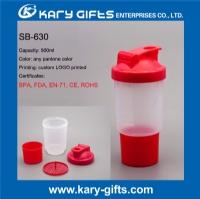 BPA Free plastic protein shaker bottle promotion drinking bottle smart water cup SB-630