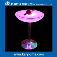 rechargeable waterproof stainless steel led club table KFT-6093