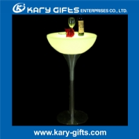 sample available remote control waterproof illuminated bar table KFT-6106