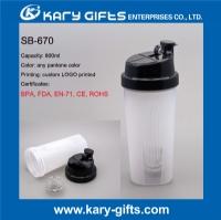 600ml protein shaker plastic water bottle for sports SB-670