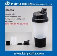 Plastic shaker bottle custom logo shaker bottle SB-660